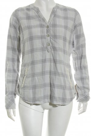 Maison Scotch Langarm-Bluse Karomuster Casual-Look