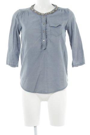Maison Scotch Langarm-Bluse kornblumenblau Casual-Look