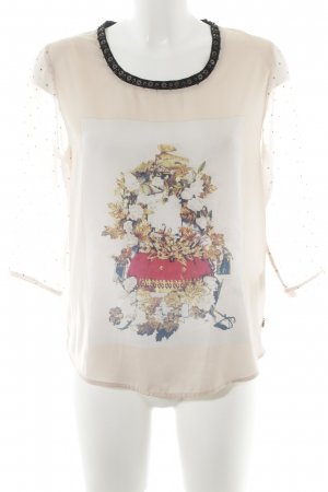 Maison Scotch Langarm-Bluse Motivdruck Casual-Look