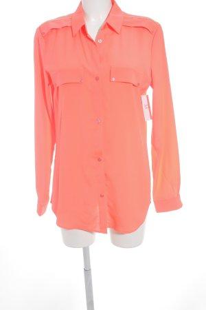 Maison Scotch Langarm-Bluse neonpink Elegant