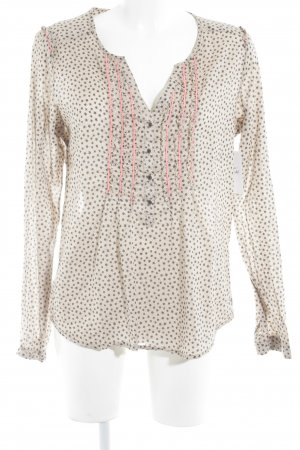 Maison Scotch Langarm-Bluse Punktemuster Casual-Look