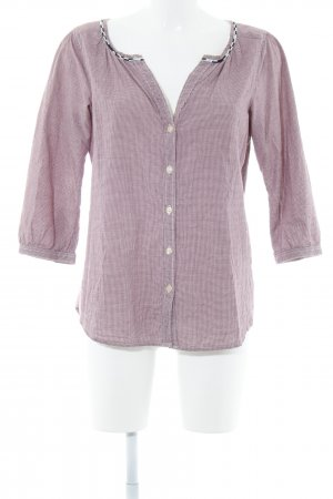 Maison Scotch Langarm-Bluse purpur-hellrosa Karomuster Casual-Look