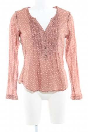 Maison Scotch Langarm-Bluse rostrot florales Muster Casual-Look
