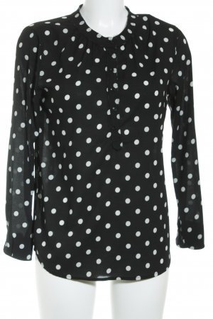Maison Scotch Long Sleeve Blouse black-white spot pattern casual look