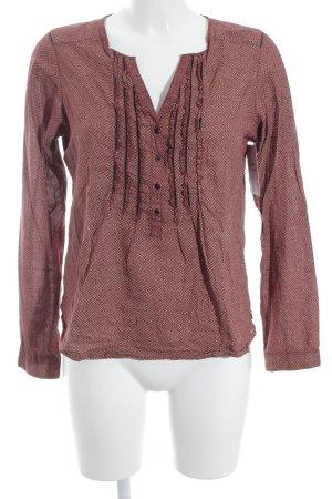 Maison Scotch Langarm-Bluse ziegelrot Mustermix extravaganter Stil