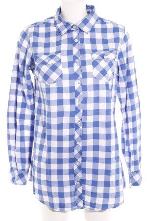 Maison Scotch Langarmhemd blau-weiß Karomuster Casual-Look
