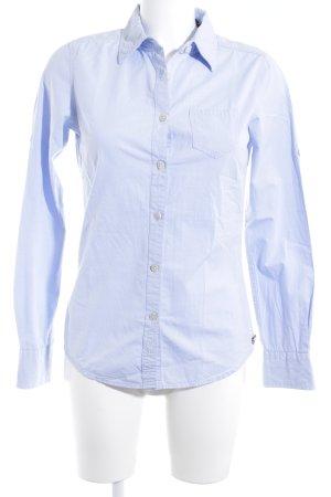 Maison Scotch Langarmhemd himmelblau klassischer Stil