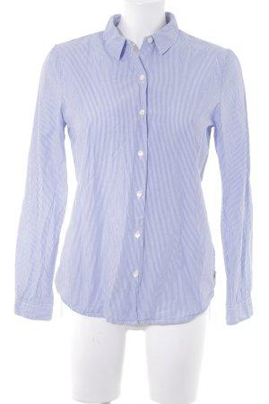 Maison Scotch Langarmhemd kornblumenblau-weiß Streifenmuster Casual-Look
