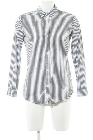 Maison Scotch Langarmhemd weiß-grau Streifenmuster Casual-Look