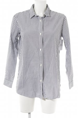 Maison Scotch Camisa de manga larga blanco-gris estampado a rayas look casual