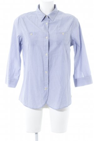Maison Scotch Langarmhemd weiß-himmelblau Casual-Look