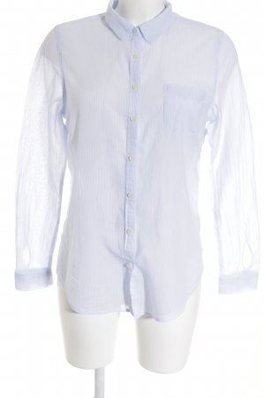 Maison Scotch Langarmhemd weiß-himmelblau Streifenmuster Casual-Look