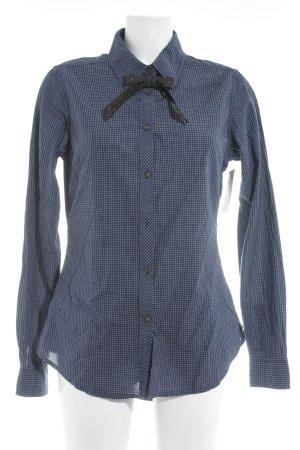 Maison Scotch Langarmhemd wollweiß-dunkelblau Karomuster klassischer Stil