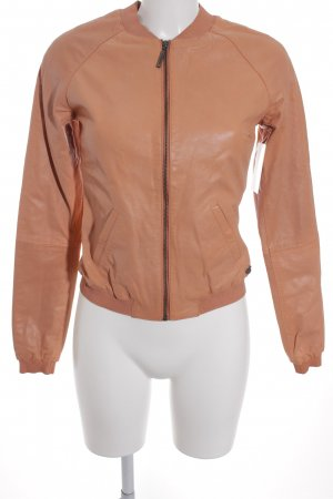 Maison Scotch Lederjacke lachs Casual-Look