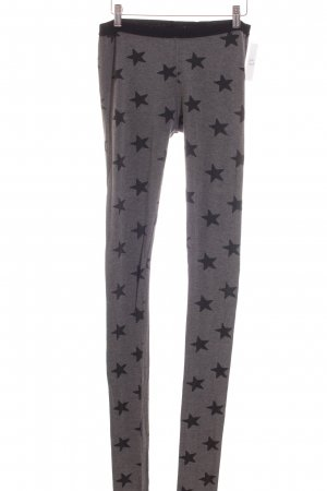 Maison Scotch Leggings grau-schwarz Sternenmuster Casual-Look