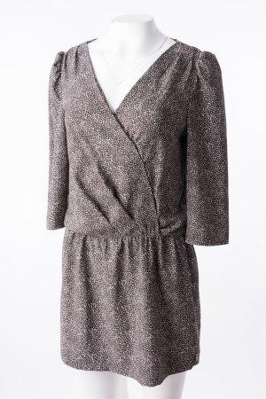 MAISON SCOTCH - Leichtes Kleid Braun-Weiß gemustert