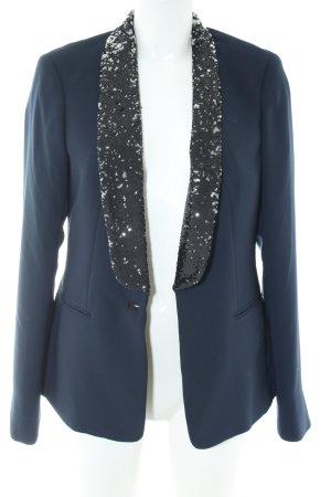 Maison Scotch Long-Blazer blau Elegant