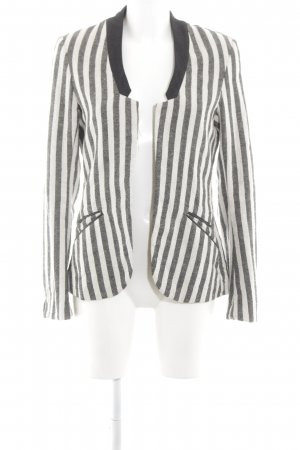 Maison Scotch Lange blazer gestreept patroon elegant
