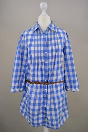 Maison Scotch Longbluse Kleid kariert mit Taillengürtel blau Größe Größe 1/Größe S