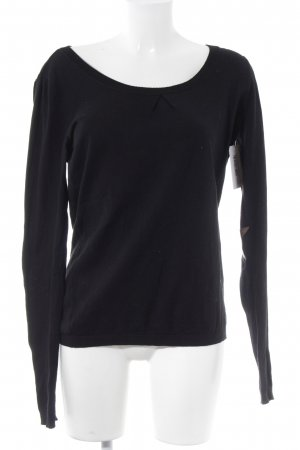 Maison Scotch Long Sweater black-light brown star pattern simple style