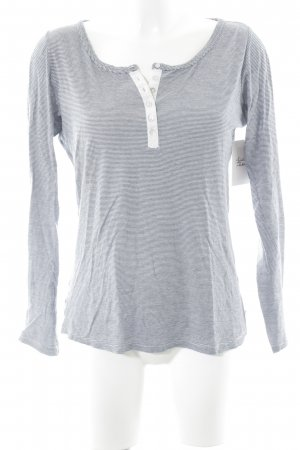 Maison Scotch Camisa larga blanco-azul oscuro estampado a rayas look casual