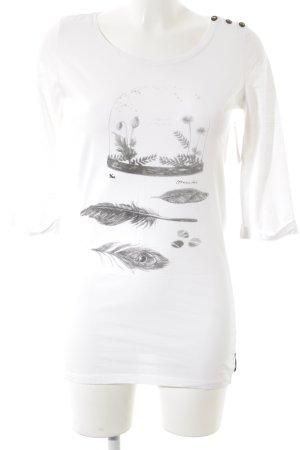Maison Scotch Longshirt weiß-dunkelgrau Casual-Look