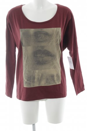Maison Scotch Longsleeve bordeauxrot Motivdruck Casual-Look