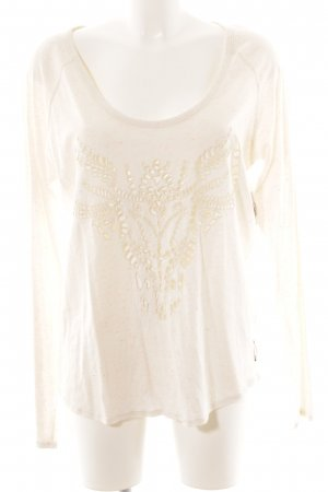 Maison Scotch Longsleeve creme Farbtupfermuster Casual-Look