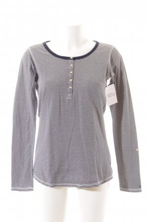 Maison Scotch Longesleeve wit-donkerblauw gestreept patroon casual uitstraling