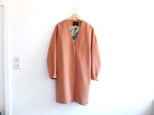 Maison Scotch Mantel Gr.3/4 38 40 nude braun rosa eggshape Wolle