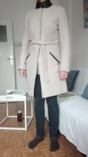 Maison Scotch Manteau d'hiver crème laine