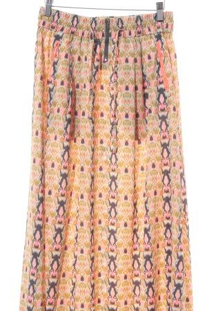 Maison Scotch Maxi Skirt allover print beach look