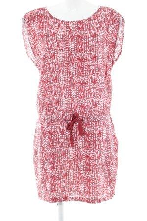 Maison Scotch Minikleid ziegelrot-wollweiß abstraktes Muster Casual-Look