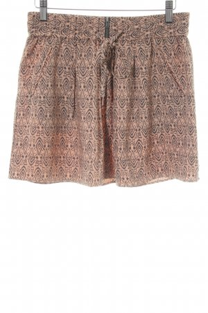 Maison Scotch Minirock nude-anthrazit abstraktes Muster Boho-Look