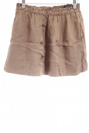 Maison Scotch Minirock sandbraun Streifenmuster Casual-Look