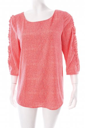 Maison Scotch Oversized Bluse grau-neonorange grafisches Muster