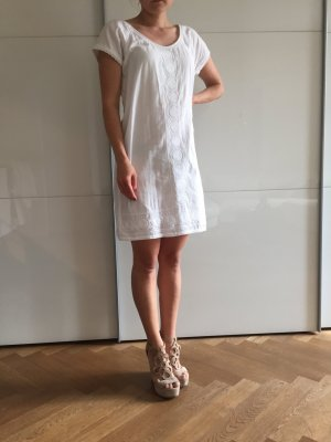 Maison Scotch Petite weißes Sommerkleid Baumwolle XS 34