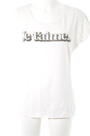Maison Scotch Print-Shirt Schriftzug gedruckt Casual-Look