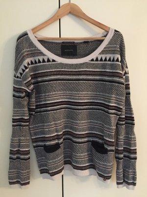 Maison Scotch Crewneck Sweater multicolored cotton