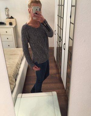 Maison Scotch Pullover jeansblau weiß meliert 36/38