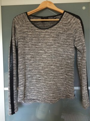 Maison Scotch Pullover mit Lederapplikation