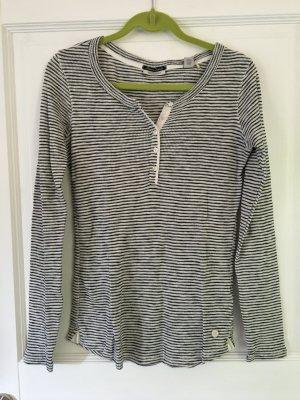 Maison Scotch Pullover schwarz weiß Streifen Gr. L