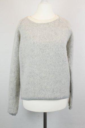 Maison Scotch Pullover Strickpullover Gr. 1 / XS grau weiß
