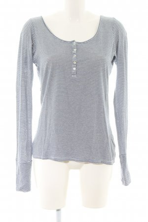 Maison Scotch Gestreept shirt blauw-wit gestreept patroon casual uitstraling