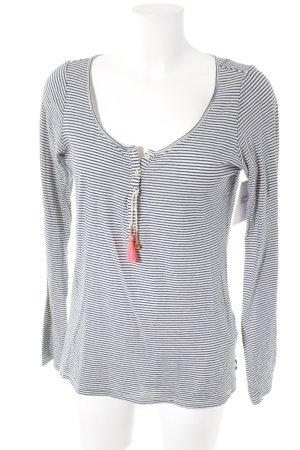 Maison Scotch Stripe Shirt natural white-dark blue horizontal stripes