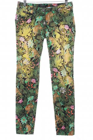 Maison Scotch Drainpipe Trousers flower pattern extravagant style