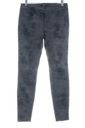 Maison Scotch Pantalón de tubo gris-gris antracita estampado de animales