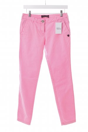 Maison Scotch Drainpipe Trousers pink