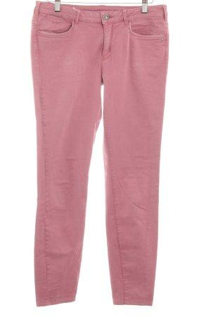 Maison Scotch Drainpipe Trousers pink-violet simple style