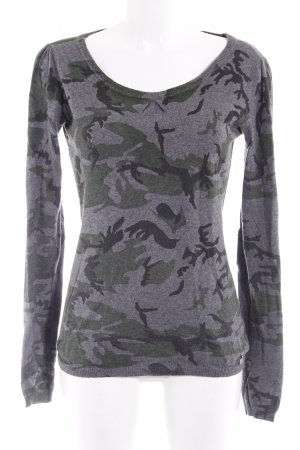 Maison Scotch Rundhalspullover Camouflagemuster Casual-Look